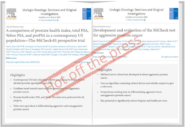 Hot Off the Press – Minomic's MiCheck® Prospective Trial Papers Published