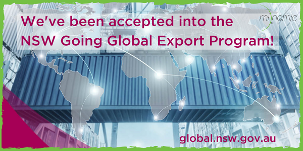 Minomic's been accepted into the NSW Going Global Export Program